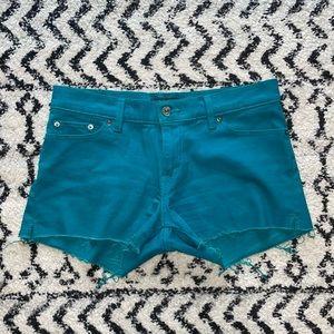 Levi's Teal Cutoff Shorts